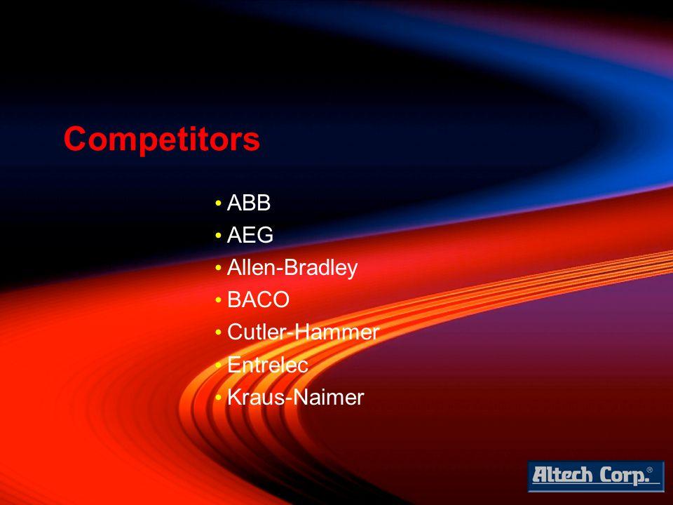 ABB AEG Allen-Bradley BACO Cutler-Hammer Entrelec Kraus-Naimer Competitors