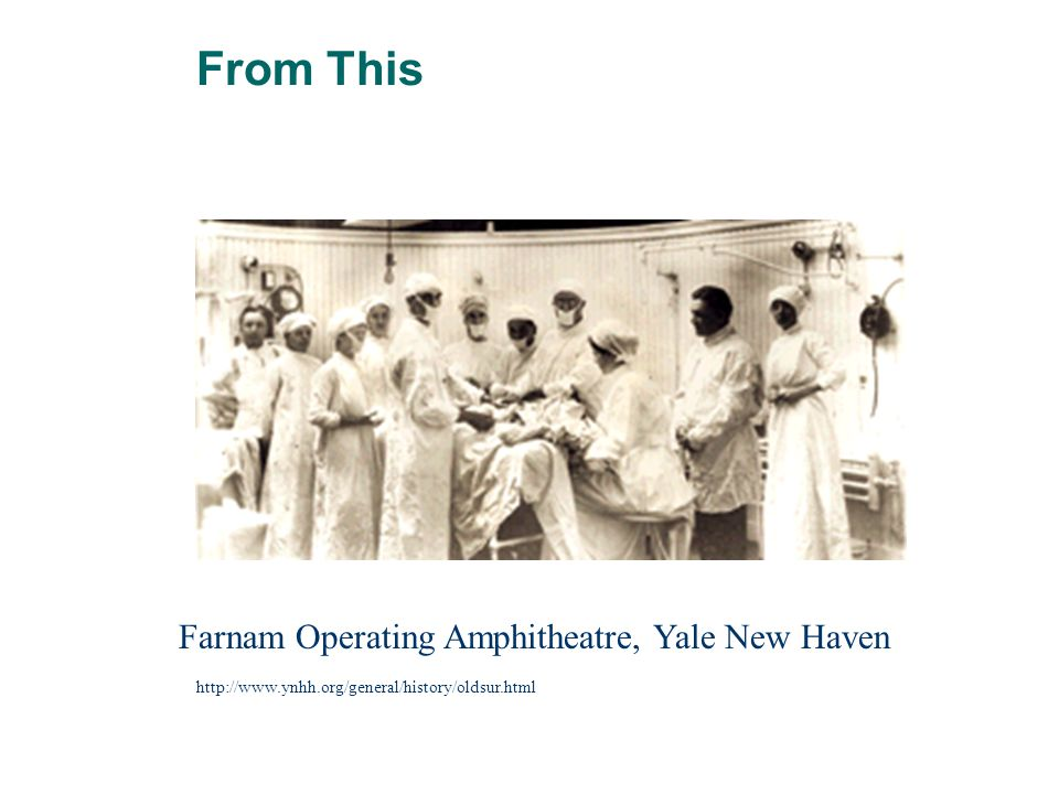 Farnam Operating Amphitheatre, Yale New Haven http://www.ynhh.org/general/history/oldsur.html From This