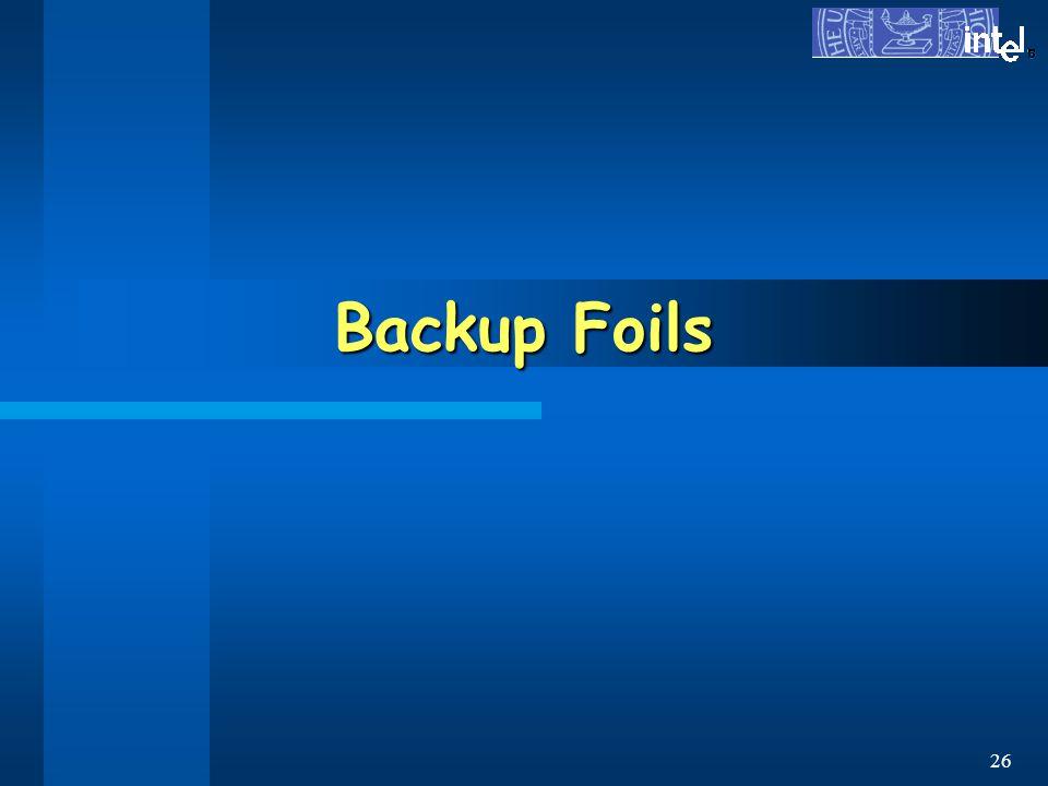 ® 26 Backup Foils