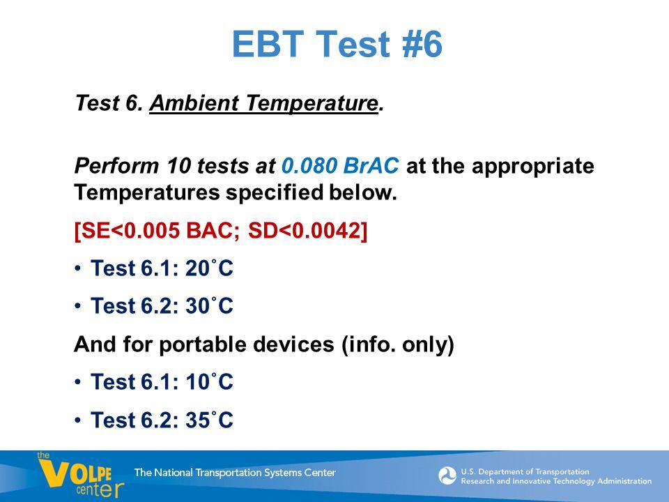 EBT Test #6 Test 6. Ambient Temperature.