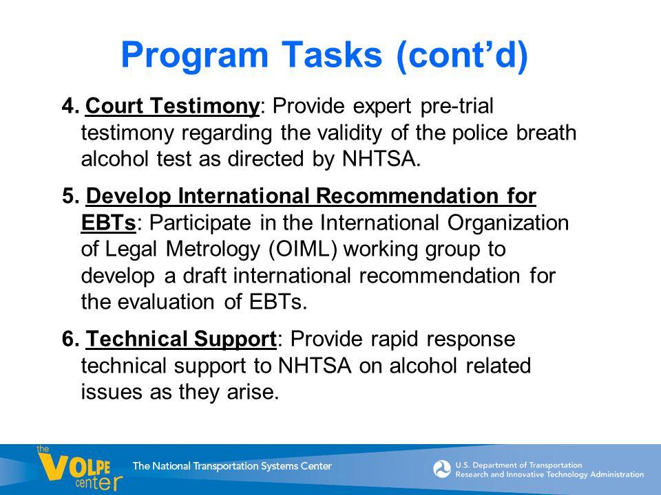 Program Tasks (cont'd) 4.