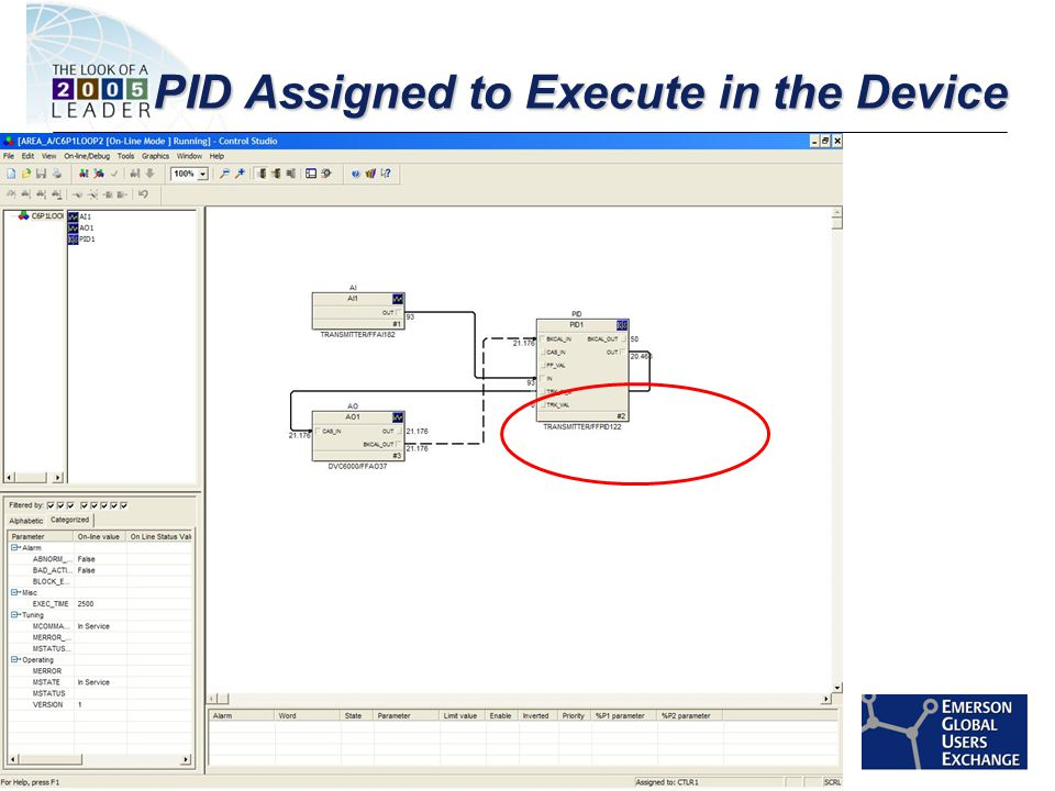 [File Name or Event] Emerson Confidential 27-Jun-01, Slide 48 PID Assigned to Execute in the Device