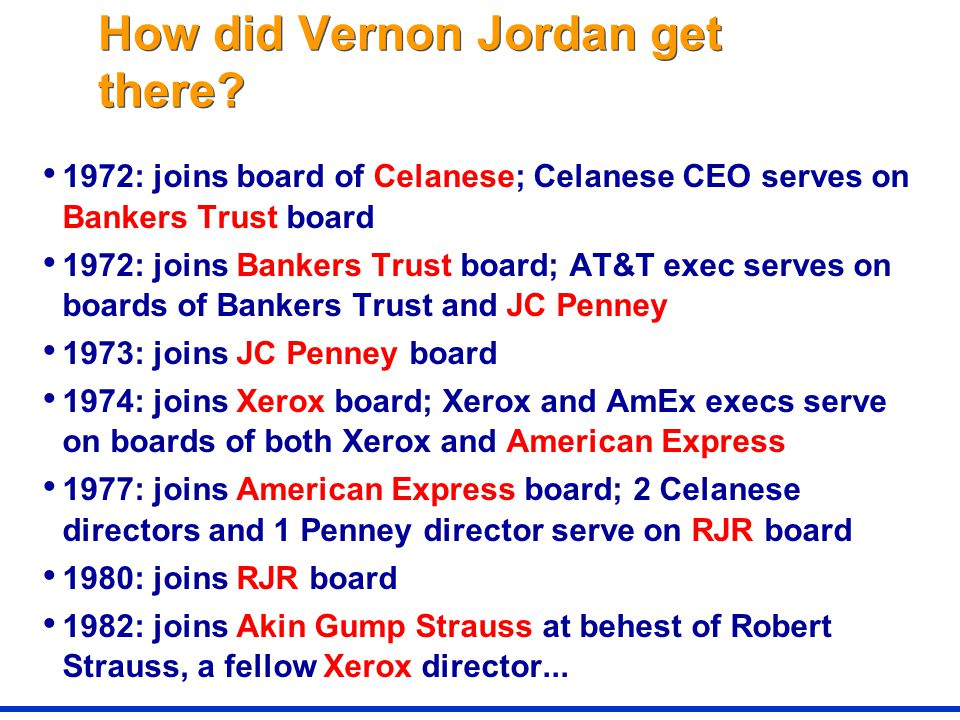 How did Vernon Jordan get there.