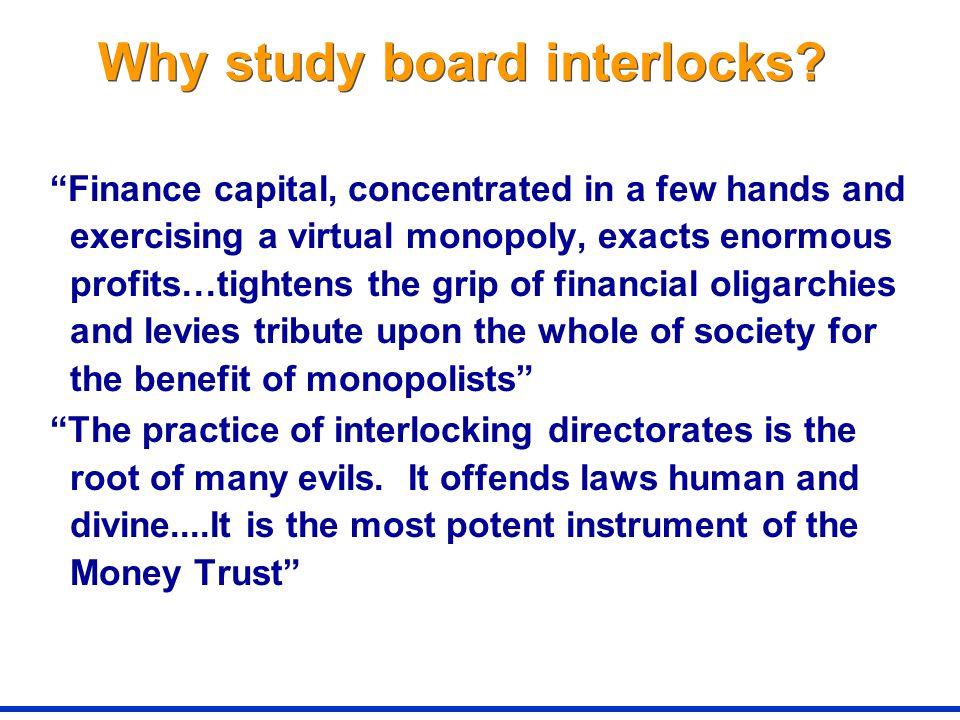 Why study board interlocks.