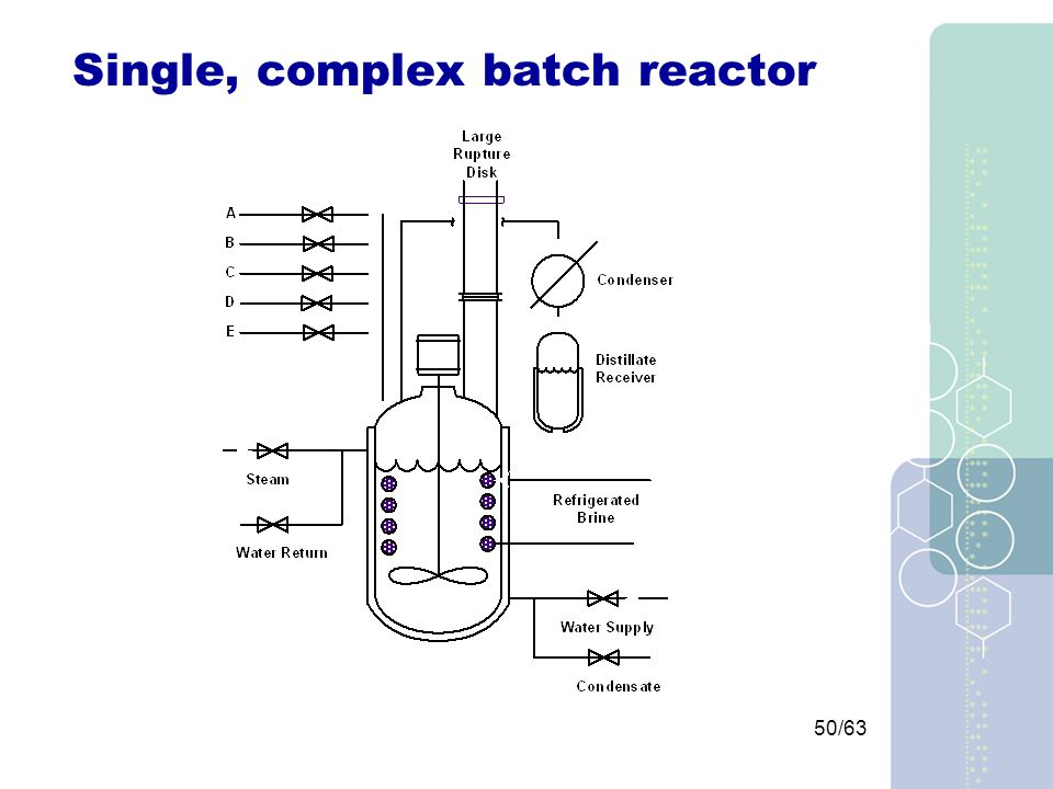 50/63 Single, complex batch reactor