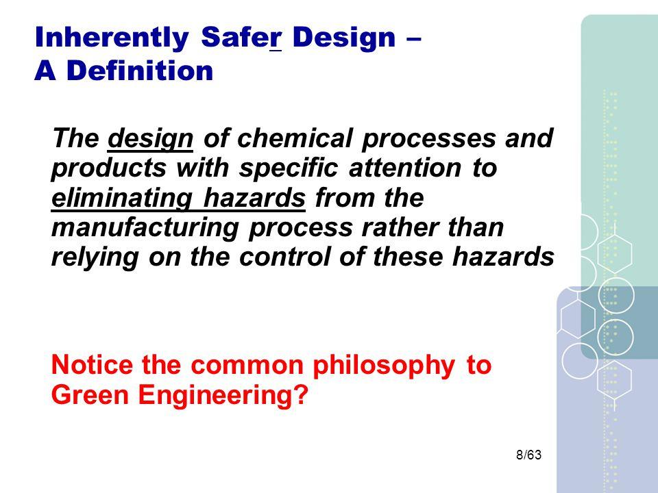 29/63 Inherently Safer Design Strategies