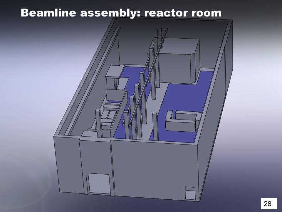 28 Beamline assembly: reactor room 28