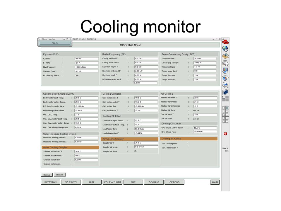 Cooling monitor