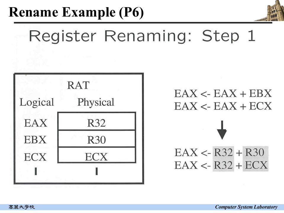 Rename Example (P6)