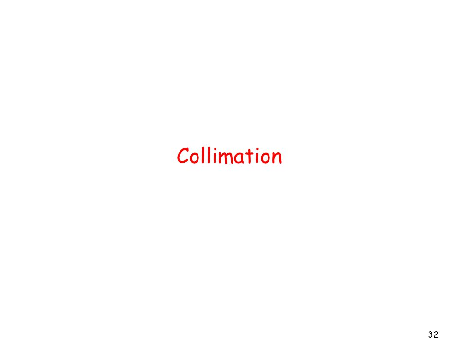Collimation 32