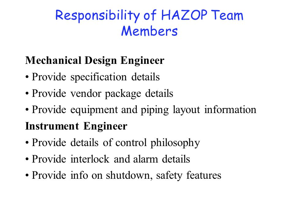 Mechanical Design Engineer Provide specification details Provide vendor package details Provide equipment and piping layout information Instrument Eng