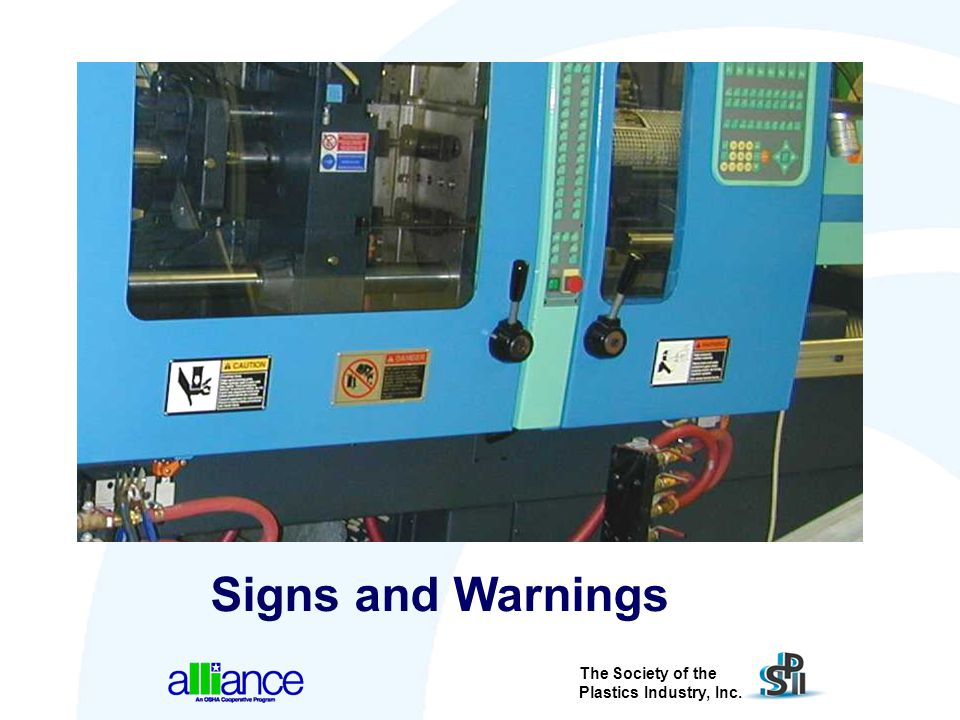 The Society of the Plastics Industry, Inc. Signs and Warnings