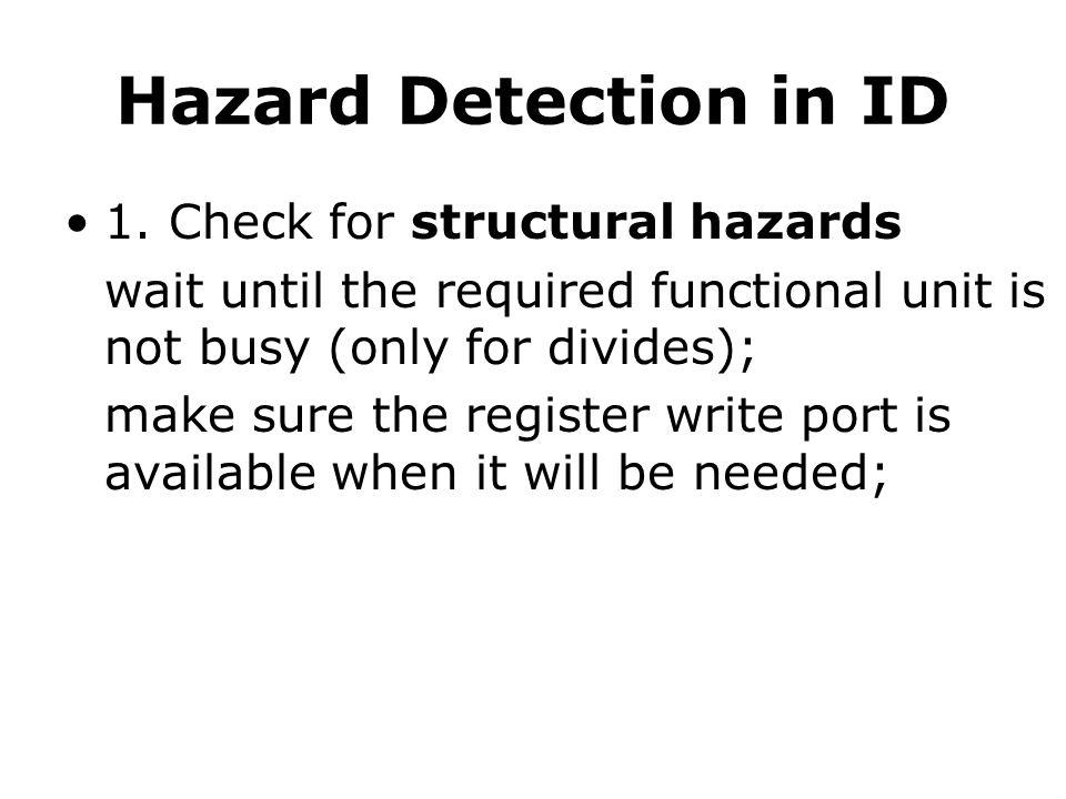 Hazard Detection in ID 1.