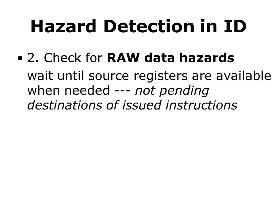 Hazard Detection in ID 2.