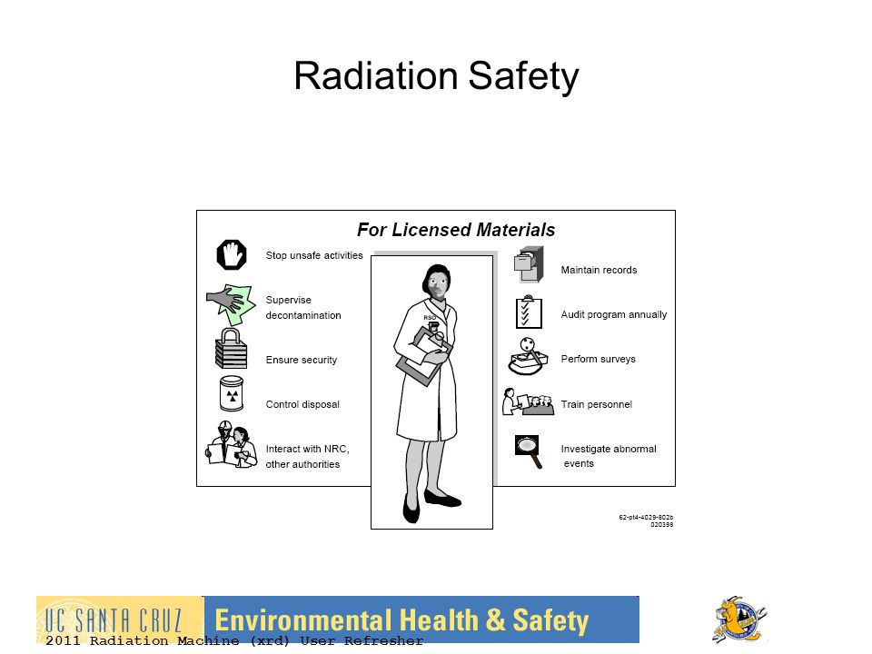 2011 Radiation Machine (xrd) User Refresher Radiation Safety