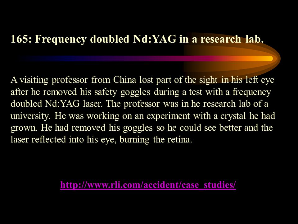 165: Frequency doubled Nd:YAG in a research lab.