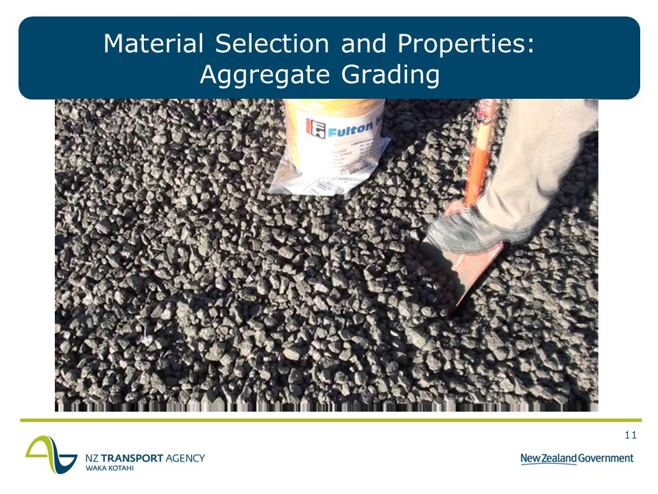 11 Material Selection and Properties: Aggregate Grading