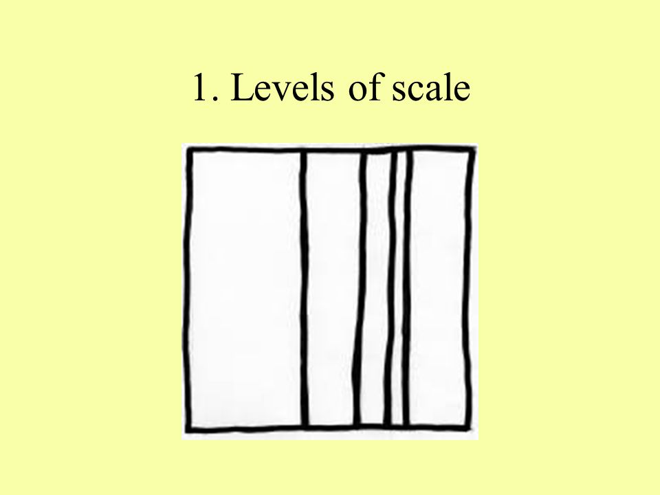 1. Levels of scale