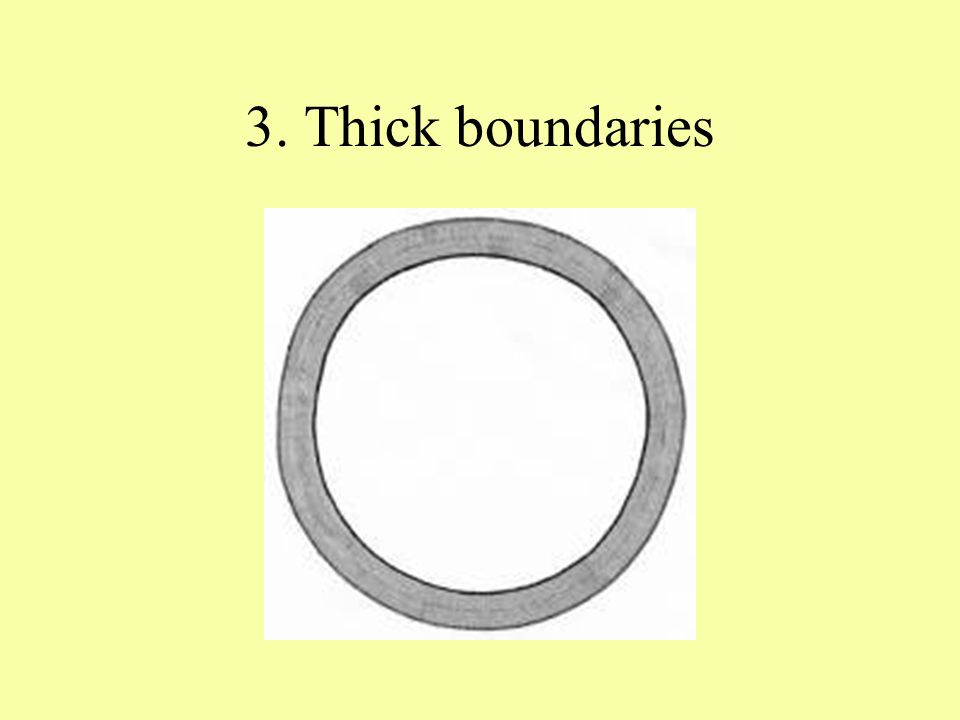 3. Thick boundaries