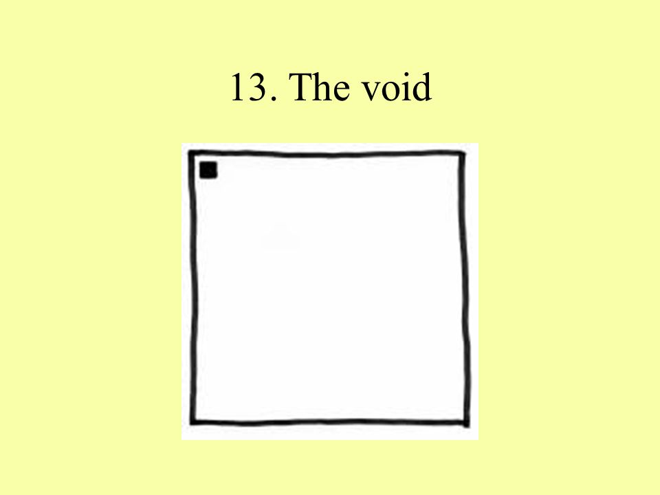 13. The void