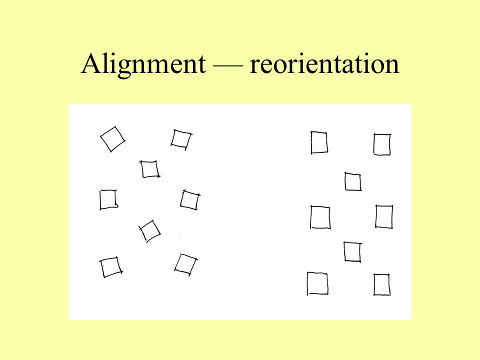 Alignment — reorientation