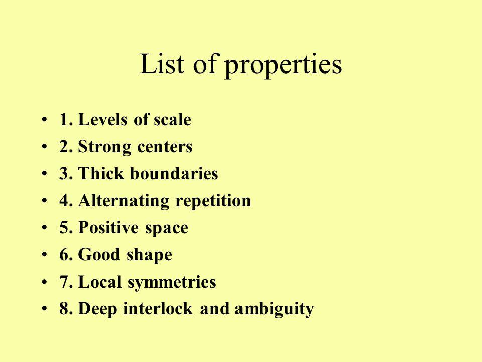 List of properties (cont.) 9.Contrast 10. Gradients 11.