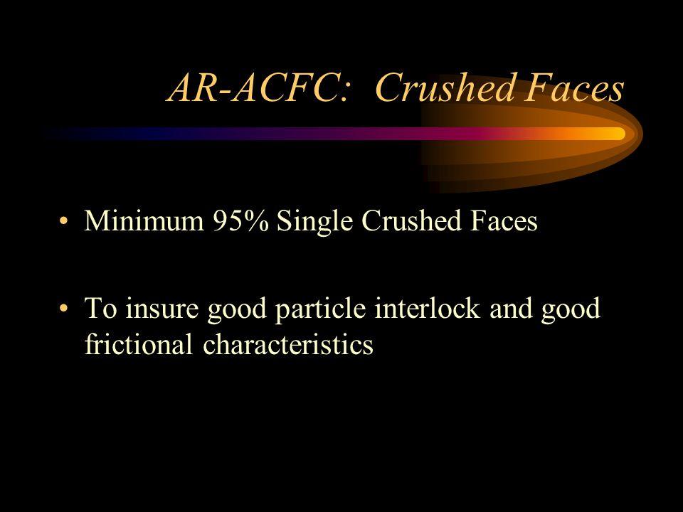 AR-ACFC: Abrasion Maximum at 100 rev.9 at 500 rev.