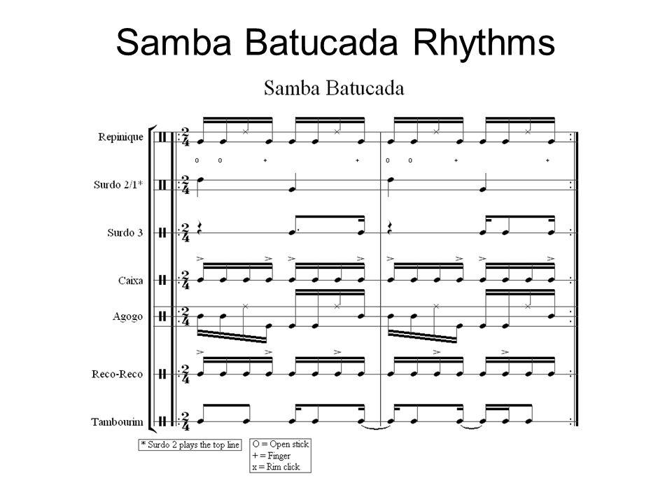 Samba Batucada Rhythms