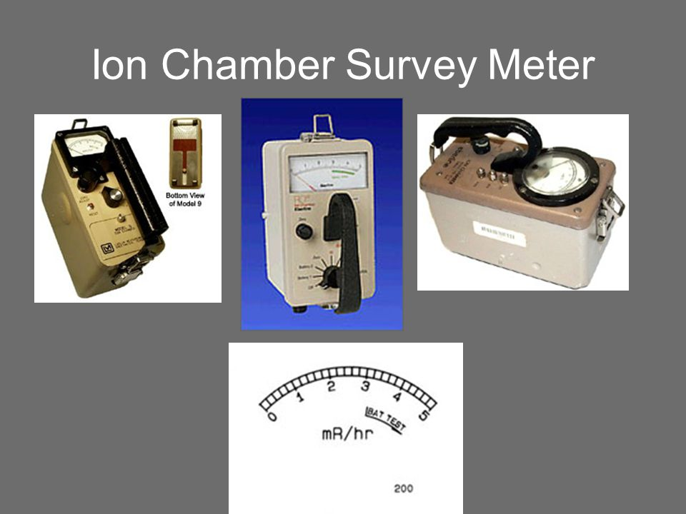Ion Chamber Survey Meter