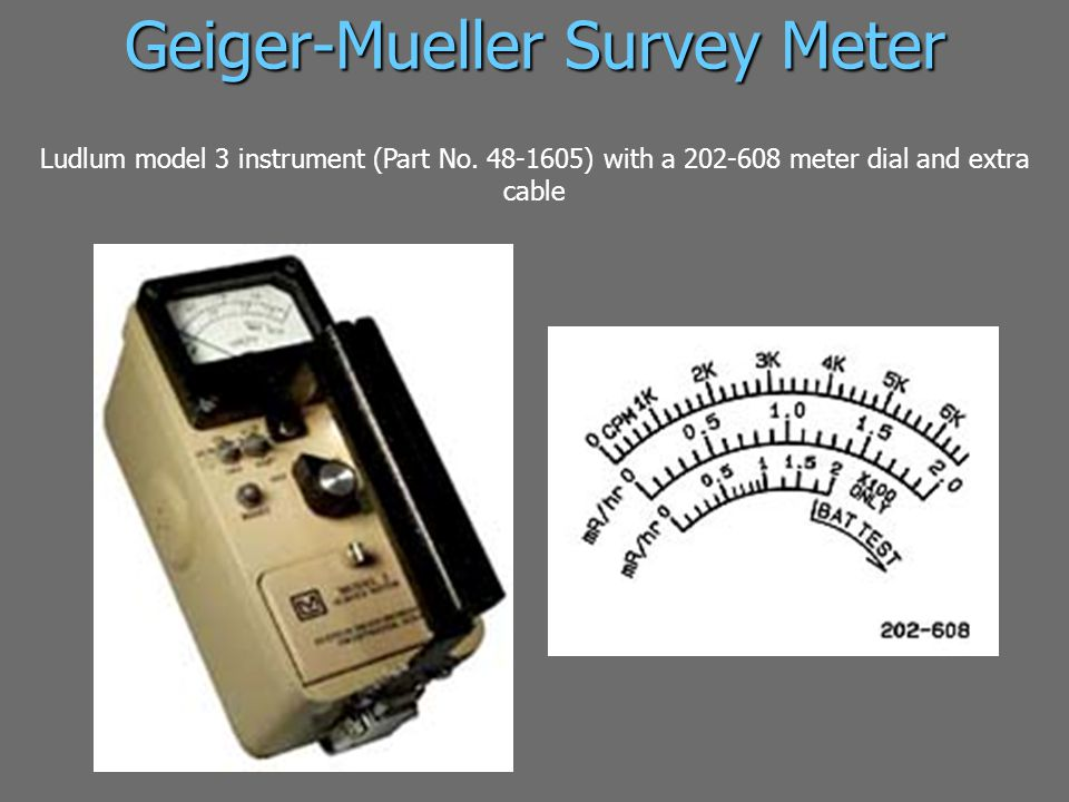 Geiger-Mueller Survey Meter Ludlum model 3 instrument (Part No.