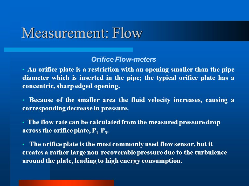 Measurement: Flow Venturi Tube The change in cross-sectional area in the venturi tube causes a pressure change between the convergent section and the throat, and the flow rate can be determined from this pressure drop.