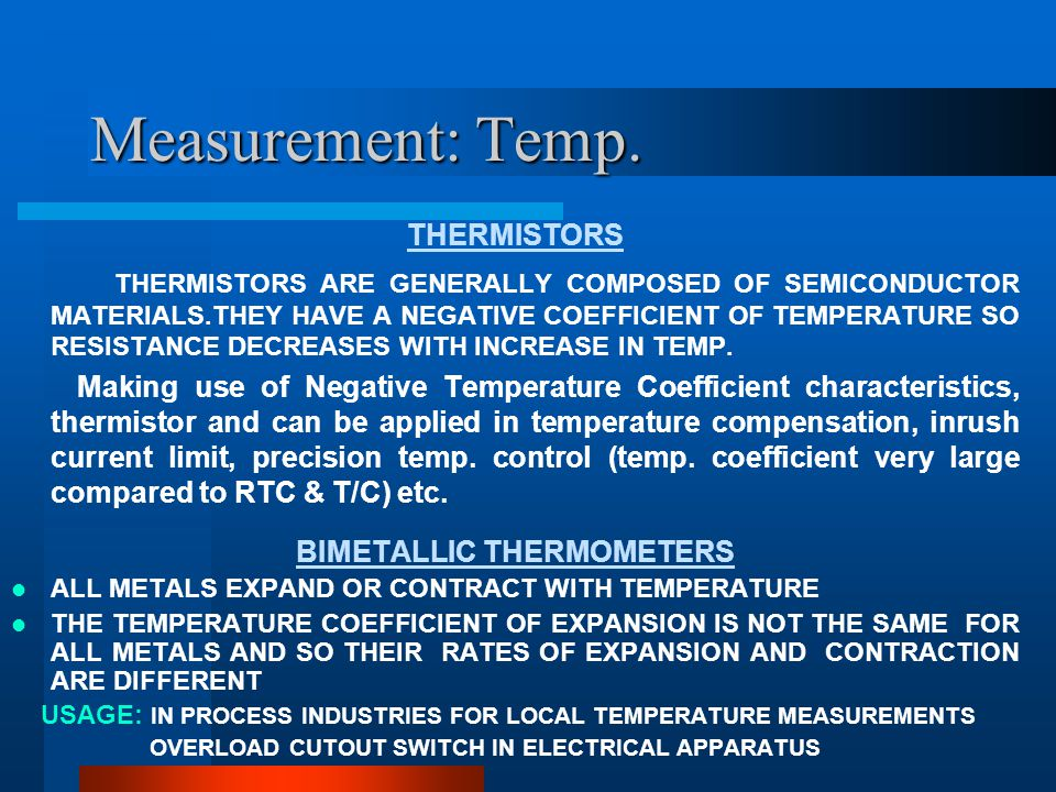Measurement: Temp.