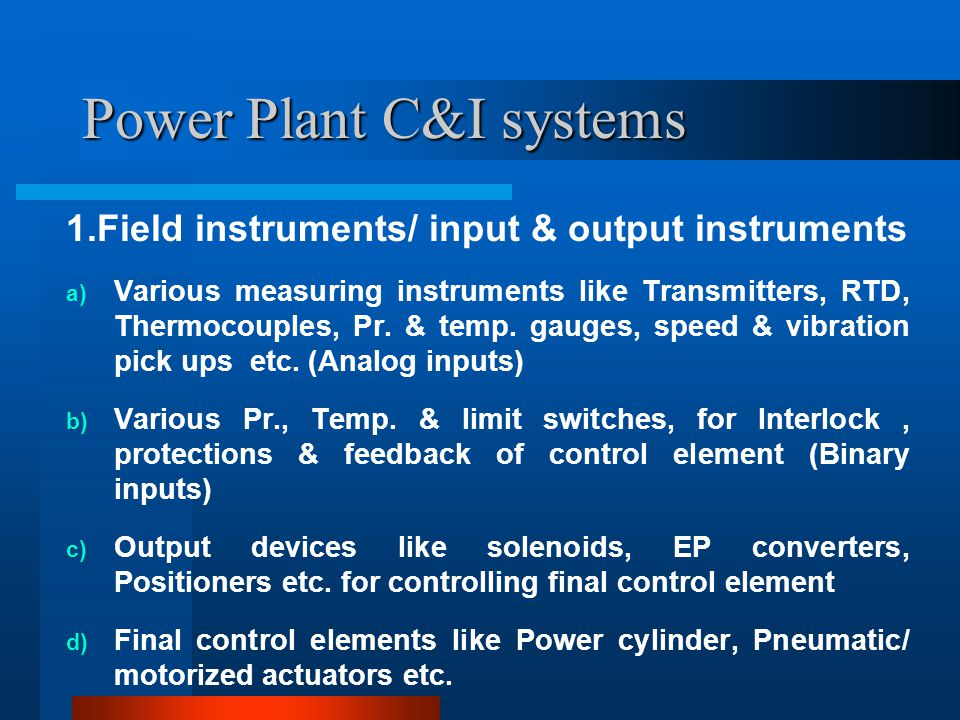 Power Plant C&I systems 2.