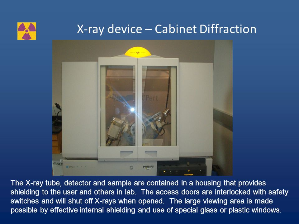 X-ray device – Open Diffraction This is an OLD open beam X-ray diffraction device.