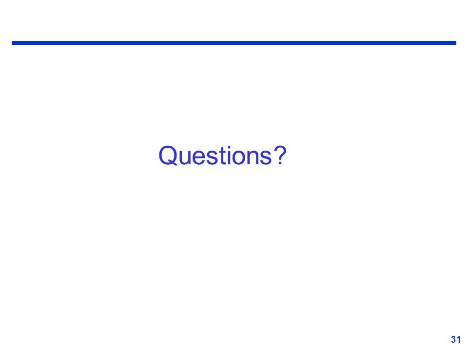 31 Questions? 31