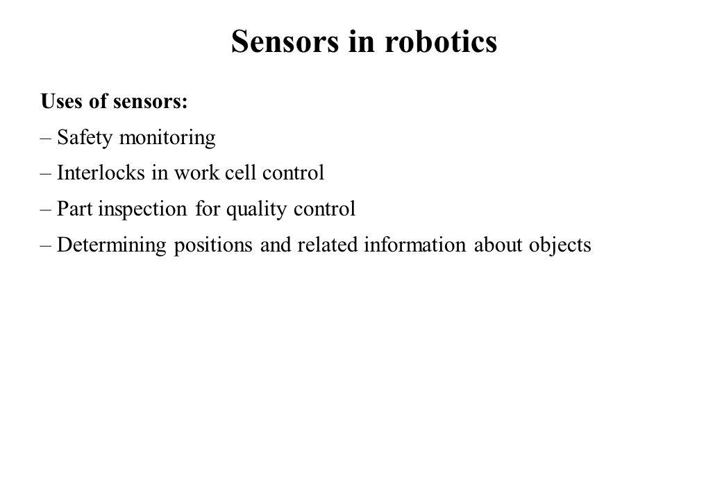 Robot Applications (Configurations/Characteristics) Gantry Robot Characteristics: Repeatability: 0.1-1mm No.