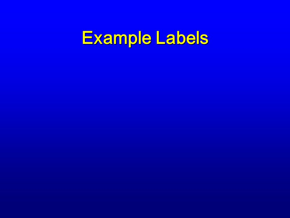 Example Labels