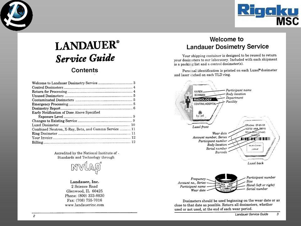 Landauer Service Guide 1