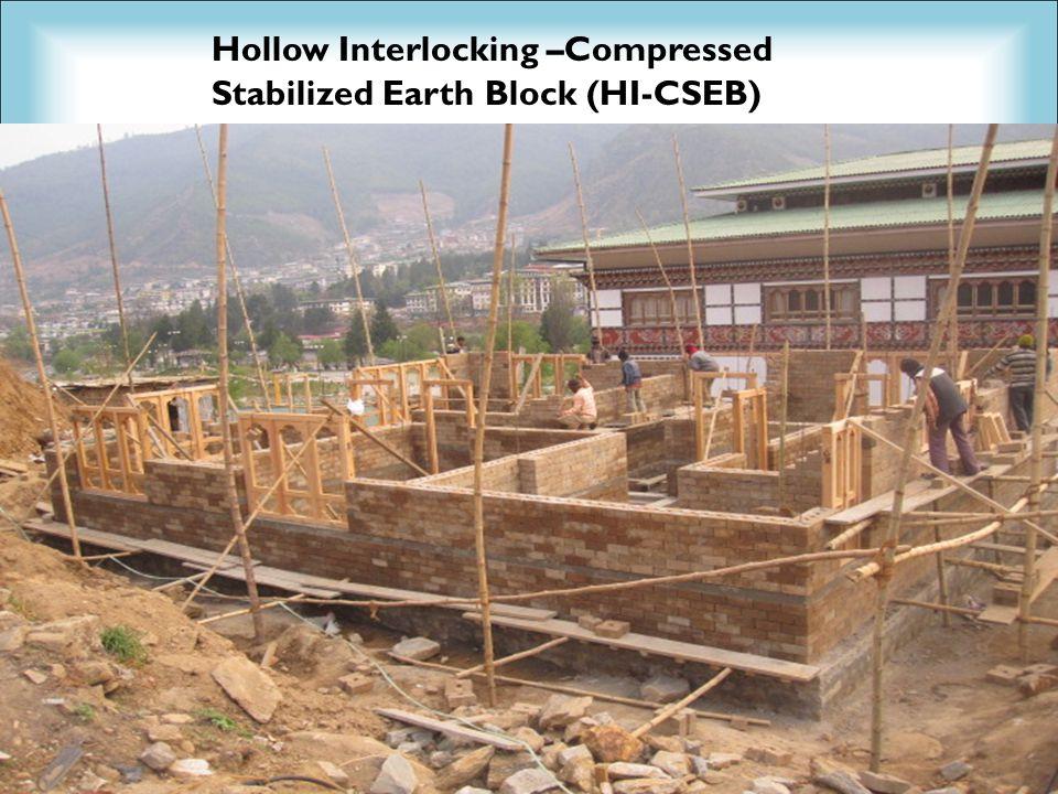 30 Hollow Interlocking –Compressed Stabilized Earth Block (HI-CSEB)