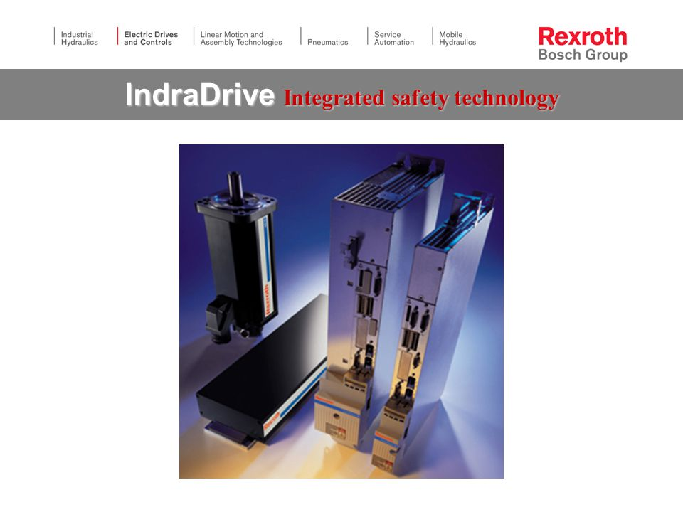 IndraDrive Integrated safety technology