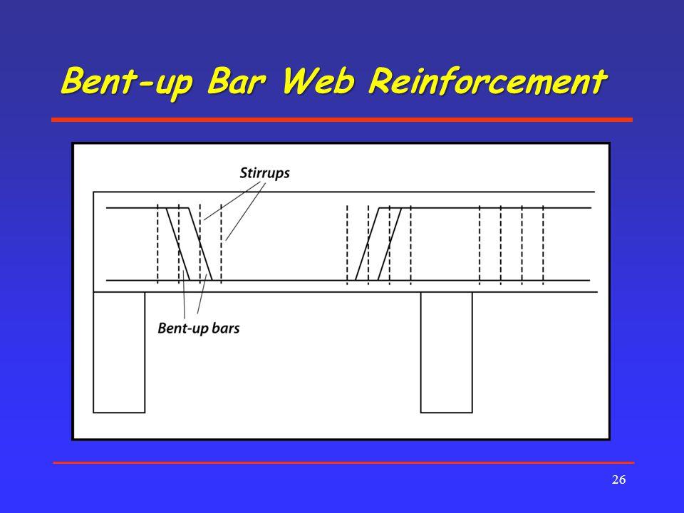 Bent-up Bar Web Reinforcement 26