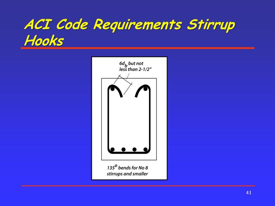 ACI Code Requirements Stirrup Hooks 41