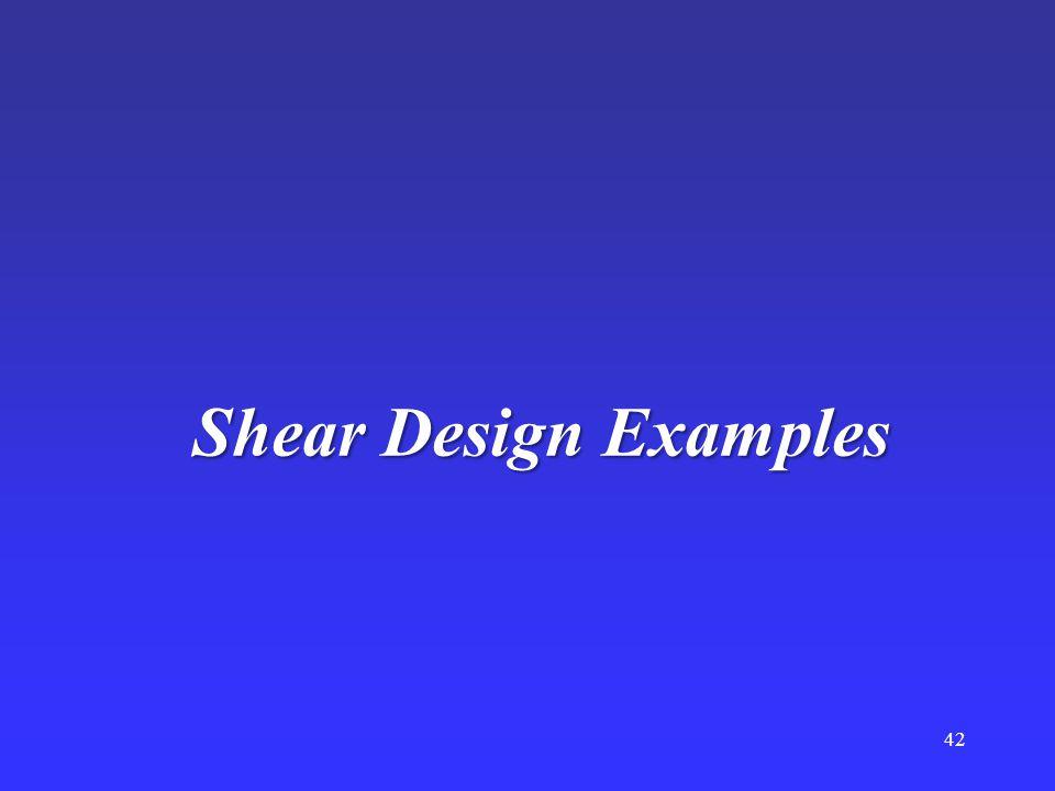 Shear Design Examples 42