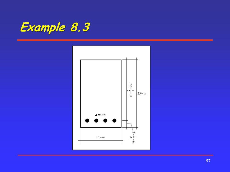 Example 8.3 57