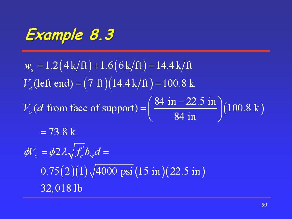 Example 8.3 59