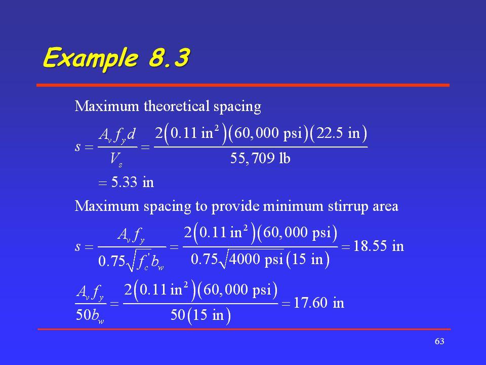 Example 8.3 63