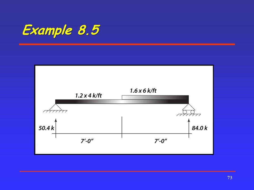 Example 8.5 73