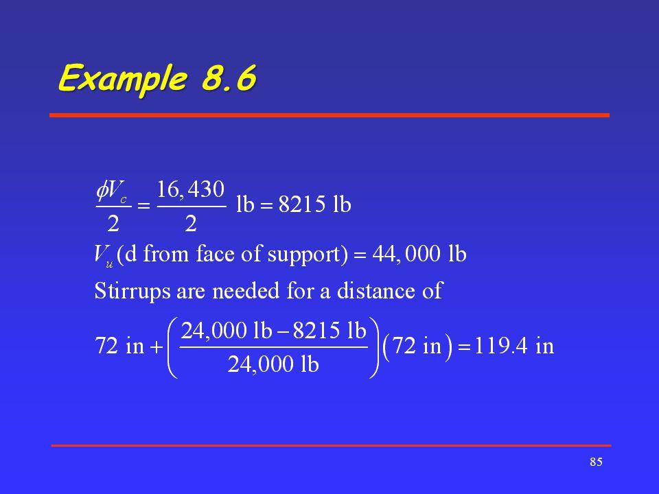 Example 8.6 85