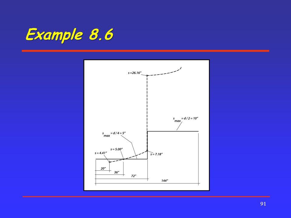 Example 8.6 91