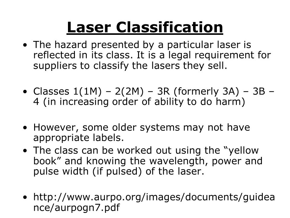Laser Classification Safety of Laser Products – Part 14: A user's guide, PD IEC/TR 60825 ‐ 14